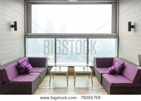 modern office lobby room