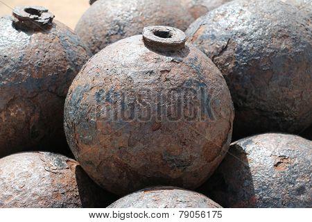 Cannon ball in El Morro