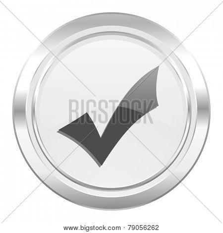 accept metallic icon check sign