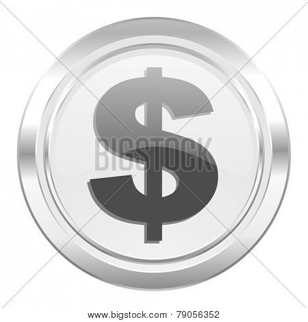 dollar metallic icon us dollar sign