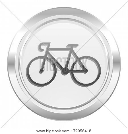 bicycle metallic icon bike sign