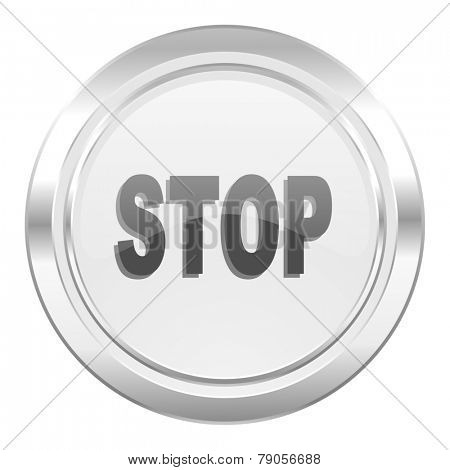 stop metallic icon