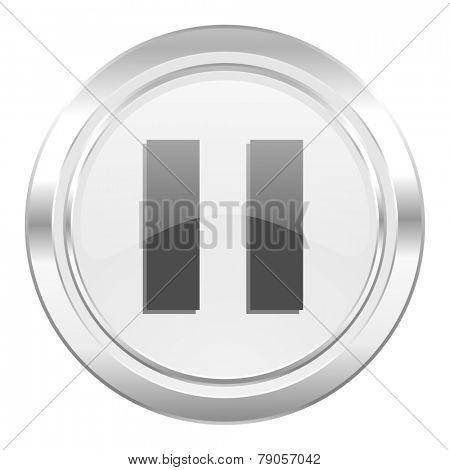 pause metallic icon