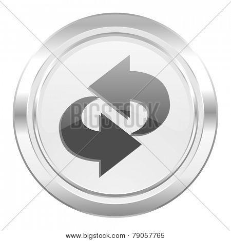 rotation metallic icon refresh sign