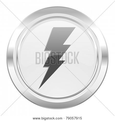 bolt metallic icon flash sign