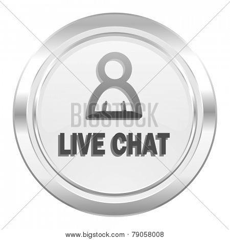 live chat metallic icon