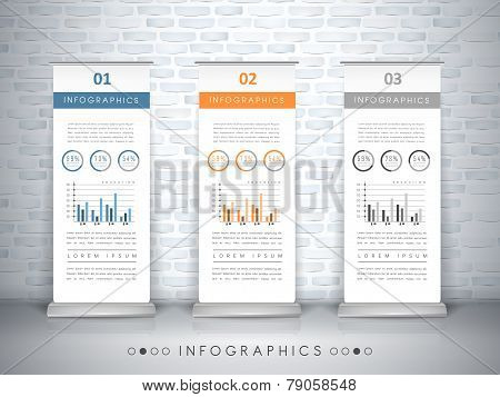 Exhibition Concept Infographic Template Design