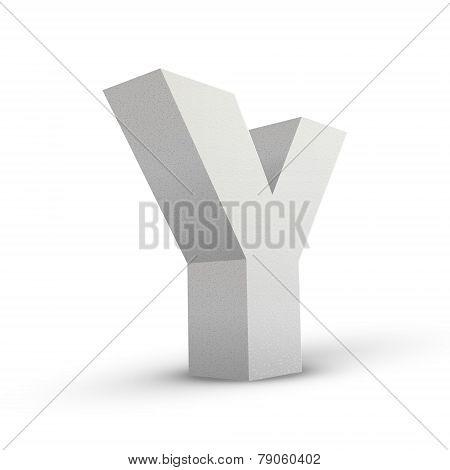 White Letter Y
