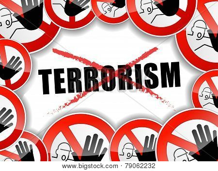 No Terrorism Concept Background