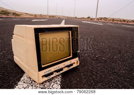 Television Abandoned on the Road