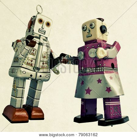 two romantic robots