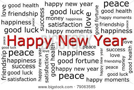 Happy new Year wordcloud
