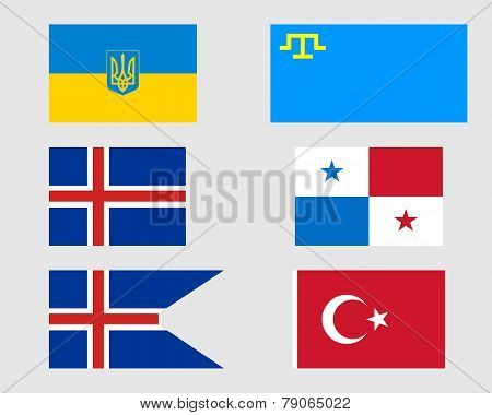 Set Of Flags 12.