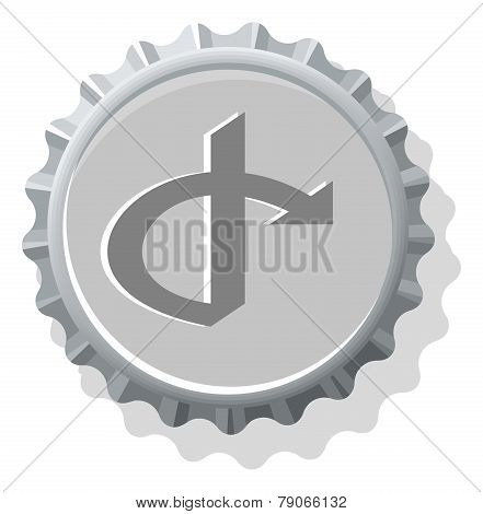 Bottle cap symbol icons