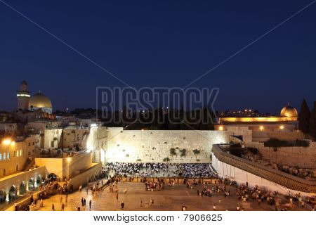 The Temple Mount in Jerusalem at Night