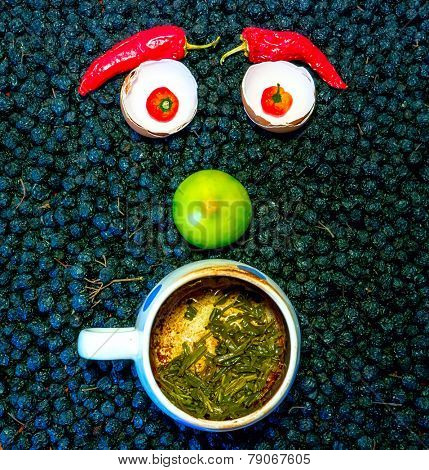 The vegetable face.