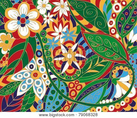 Batik, Floral Ornament