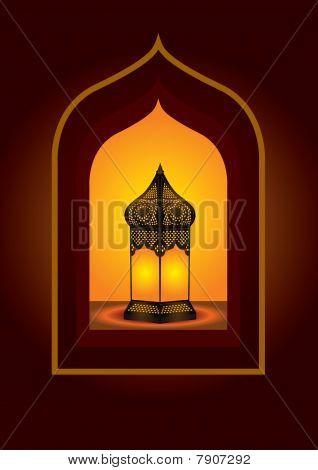 Intricate arabic lantern