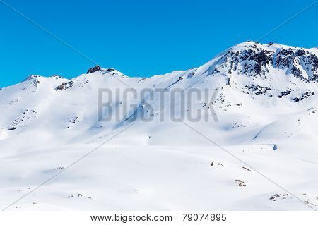 Mountain on sunny day.