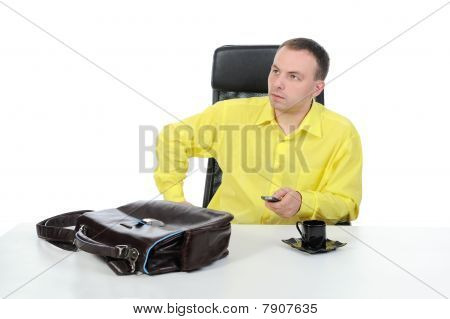 Businessman In Office.