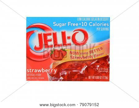 Los Angeles,California Dec 9th,2014: Nice Image of a package of Strawberry jello