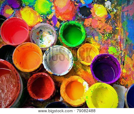 old paint pots