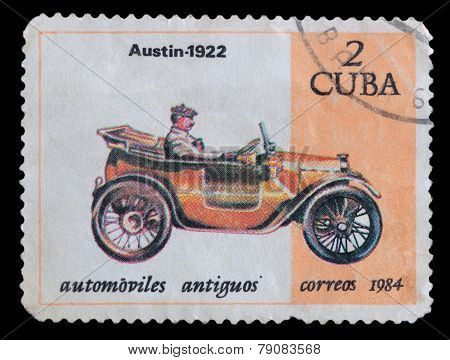 Stamp Printed In Cuba Shows Image Of The Car