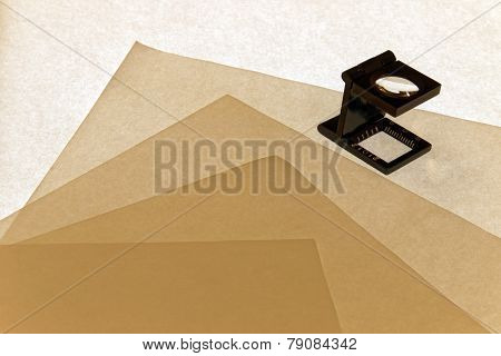 Loupe Checking Formation Of Paper Sheets