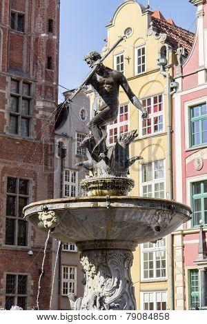 Neptune Fountain, Gdansk, Poland