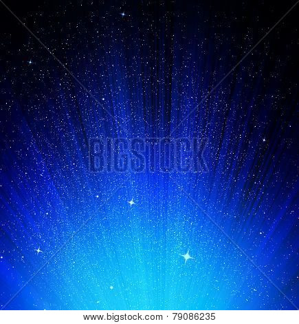 Stars And Night Sky As Background