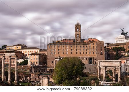 View Of The Capitoline Hill And The Forum Romanum