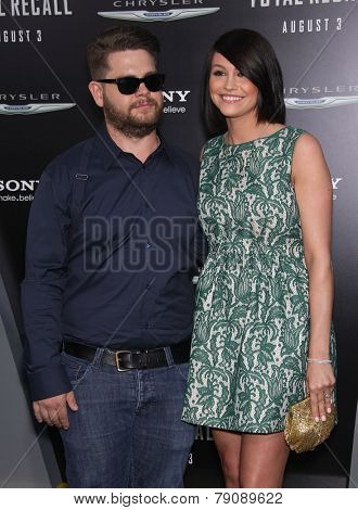 LOS ANGELES - AUG 01:  Jack Osbourne & Lisa Stelly arrives to