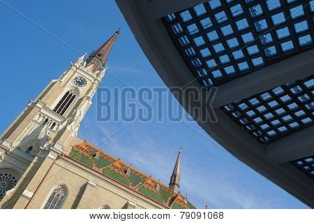 Catholic Cathedral or the Name of Mary Church in Novi Sad, Serbia