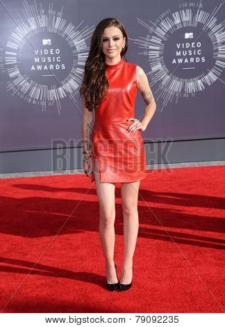 LOS ANGELES - AUG 24:  Cher Lloyd arrives to the 2014 Mtv Vidoe Music Awards on August 24, 2014 in Los Angeles, CA