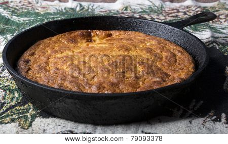 Corn Bread In Cast Iron Pan