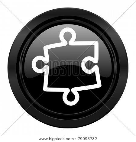 puzzle black icon