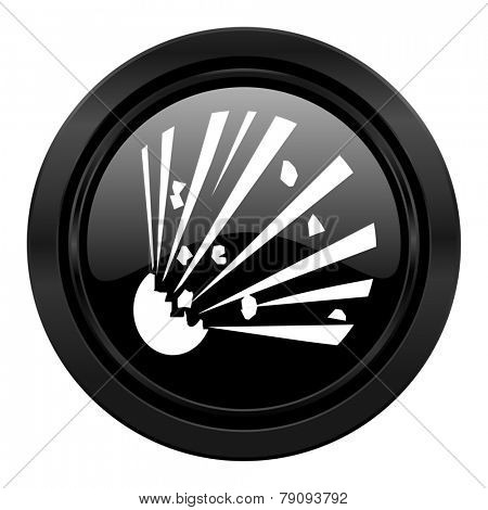 bomb black icon