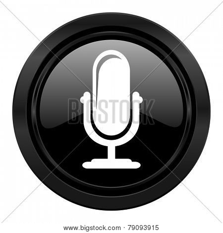 microphone black icon podcast sign