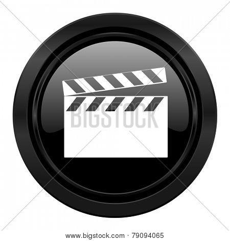 video black icon cinema sign