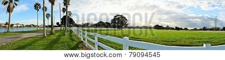 White Picket Fence in Florida