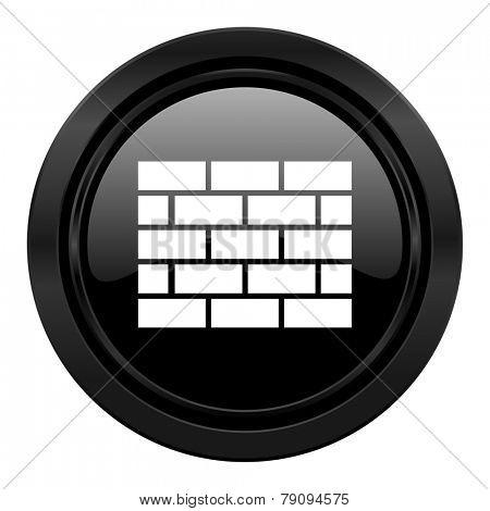 firewall black icon brick wall sign