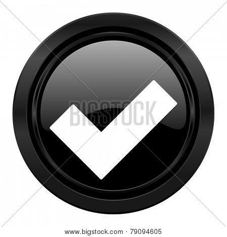 accept black icon
