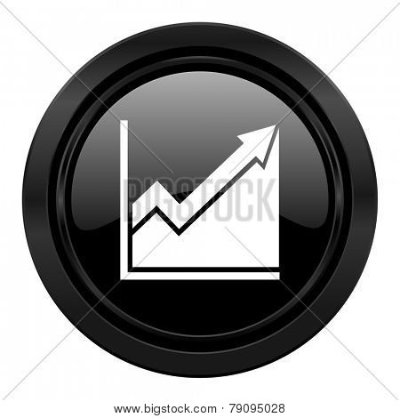histogram black icon stock sign