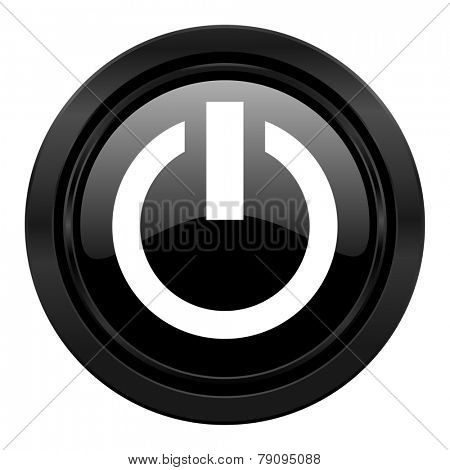 power black icon on off sign