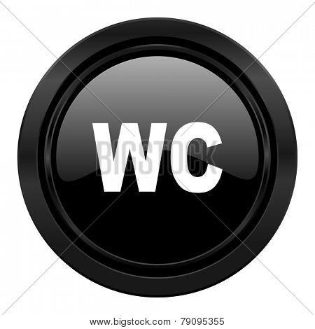 toilet black icon wc sign