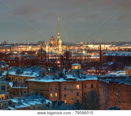 Saint-petersburg Building Residential On  Background Of Peter And Paul Fortress.