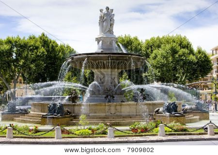 fountain at La Rotonde Aix-en-Provence Provence France