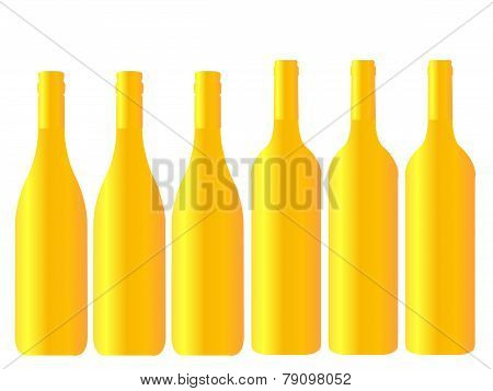 Different Kinds Of Golden Wine Bottles