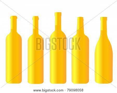 Golden Bottles Of Wines Of The World
