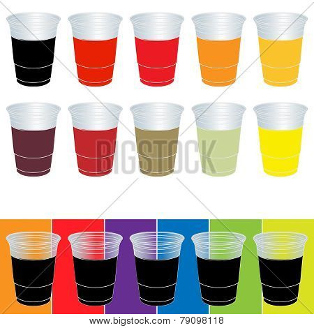 Transparent Cups With Soda